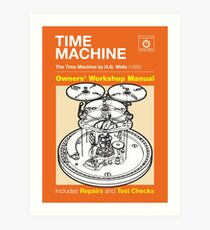 Owners Manual - HG Wells Time Machine Art Print