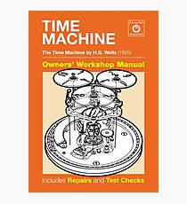 Owners Manual - HG Wells Time Machine Photographic Print