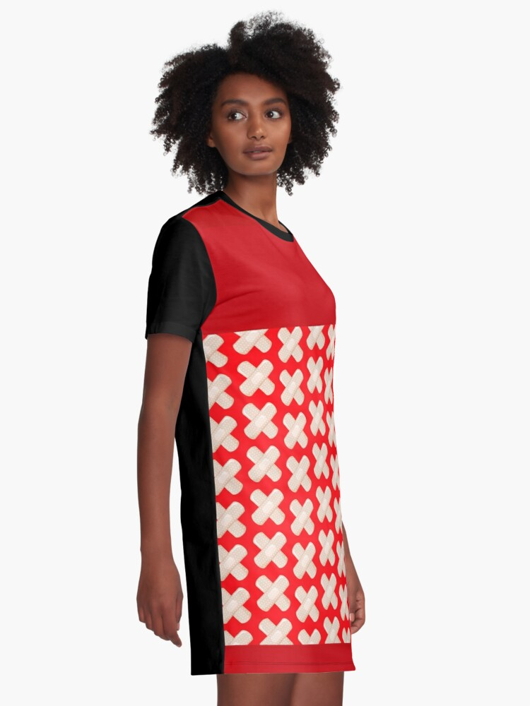 Alternate view of First Aid Plaster Graphic T-Shirt Dress