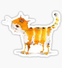 Cute smiling orange cat  Sticker