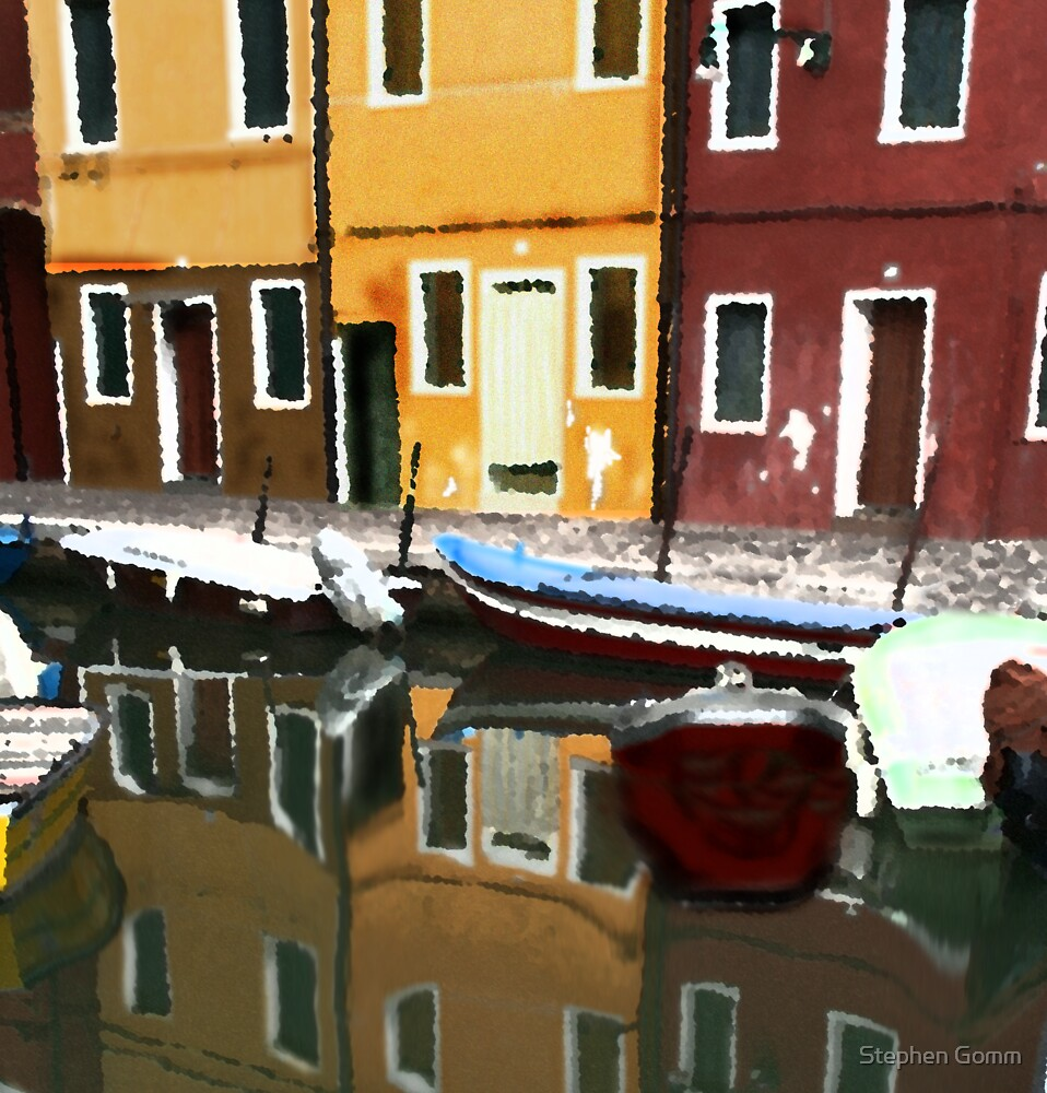 Venice in reflection by Stephen Gomm