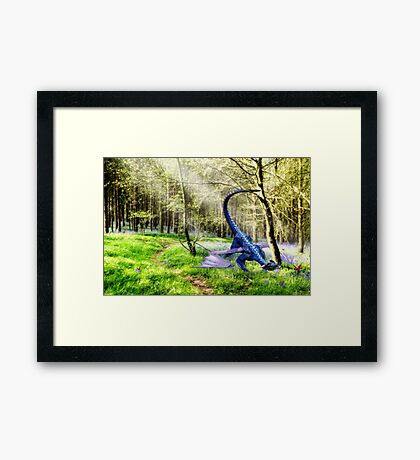 Woodland Dragon Framed Print