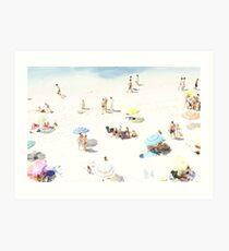 Beach - happy days Art Print