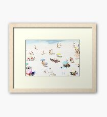 Beach - happy days Framed Print