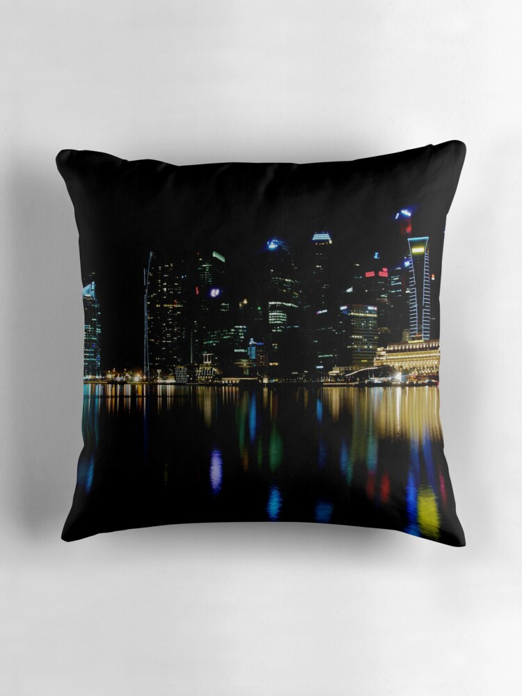 "Colors of the Singapore Skyline"" Throw Pillows by tpixx"