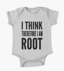 I think therefore I am root - Computer Admin Parody Design Kids Clothes