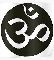 Aum Om Symbol for Yoga Poster