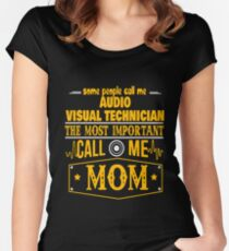 AUDIO VISUAL TECHNICIAN BEST COLLECTION 2017 Women's Fitted Scoop T-Shirt