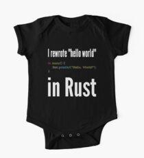 I rewrote hello world in Rust - Funny Programming Design Kids Clothes