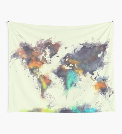 world map 106 #worldmap #map Wall Tapestry
