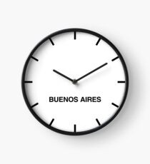 Newsroom Wall Clock Buenos Aires Time Zone Clock