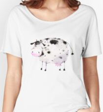 Cute black and white cow Women's Relaxed Fit T-Shirt