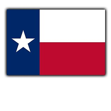 TEXAS, TEXAN, Lone Star, Texas Flag, Flag of the State of Texas, USA, America, American by TOMSREDBUBBLE