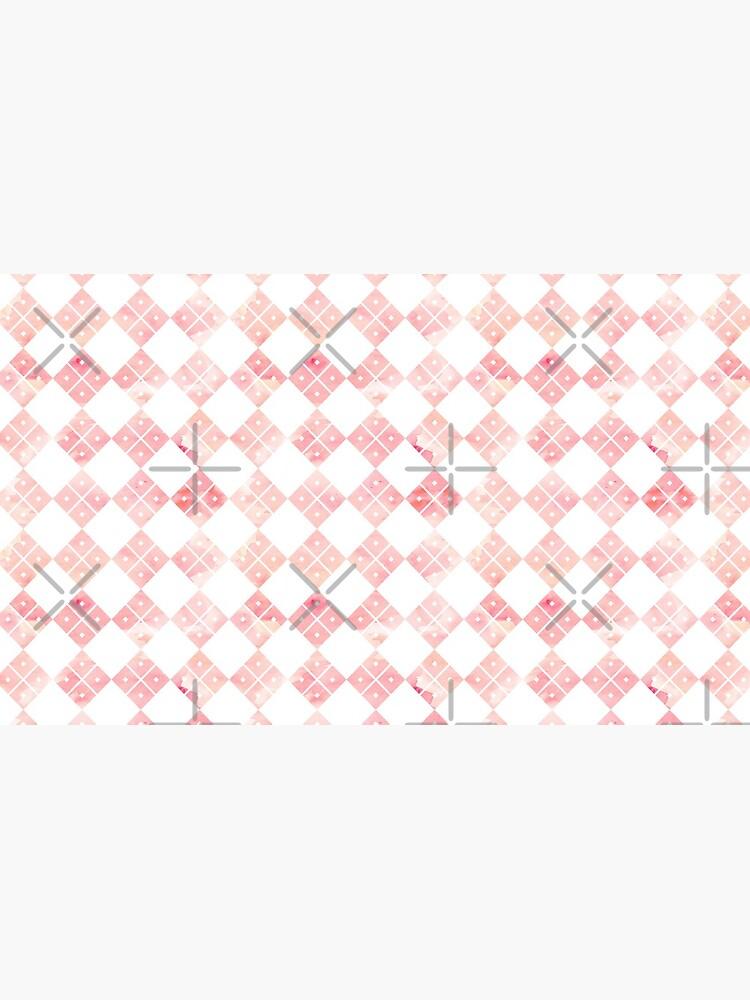 Pink Chinese check pattern by adenaJ