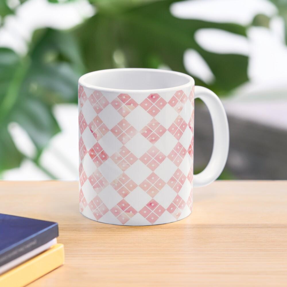Pink Chinese check pattern Mug