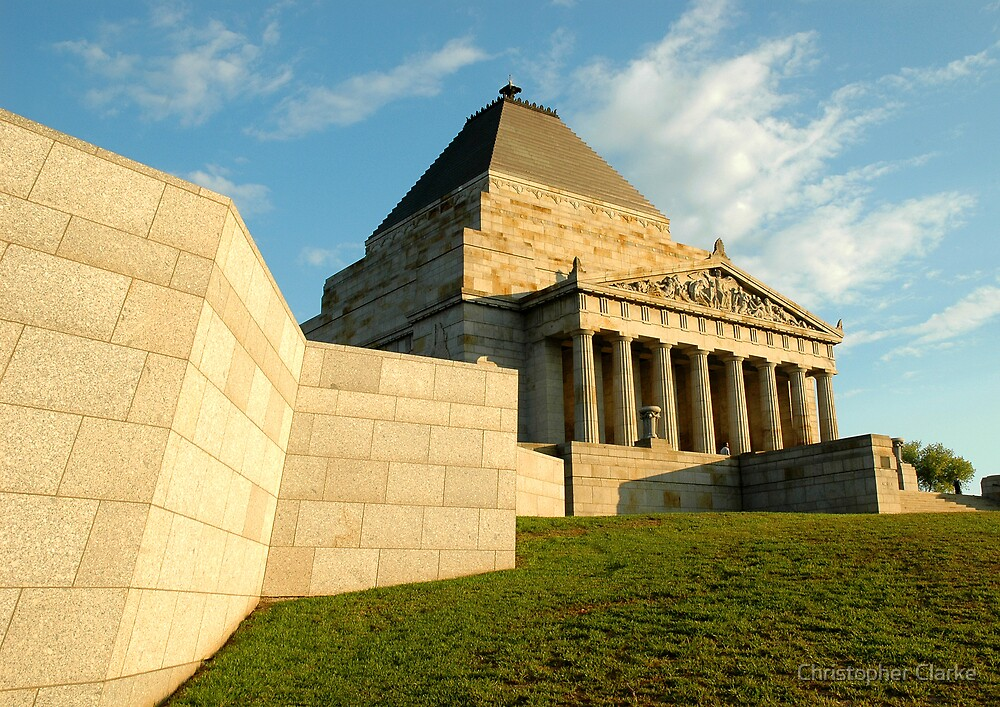 Shrine of Remembrance - Melbourne by Christopher Clarke