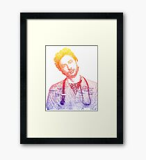 JD Quote Rainbow Framed Print