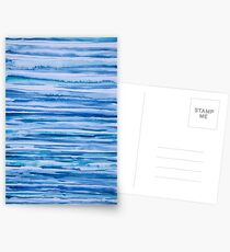Blue lines with red dot Greeting Card