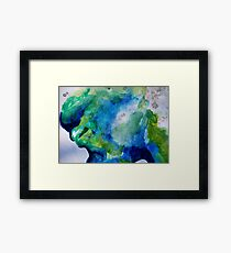 The green and blue smoke Framed Print