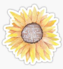 Positivity quote, sunflower Sticker