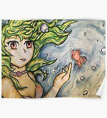 Anime mermaid Poster