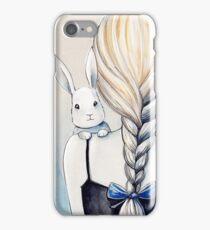 White rabbit iPhone Case/Skin