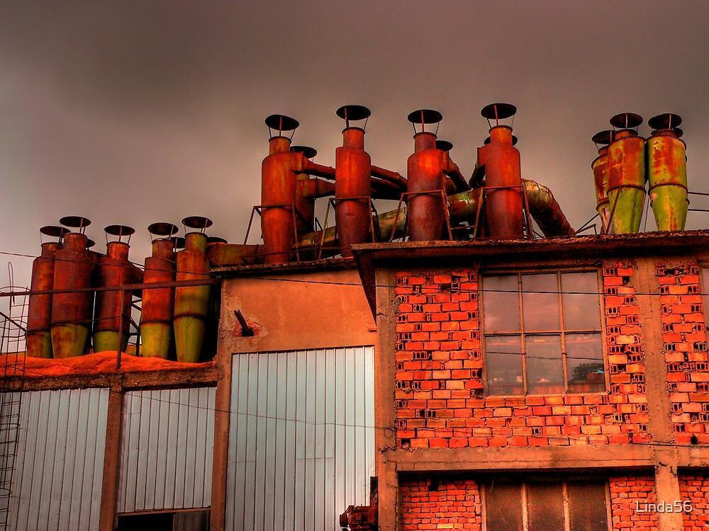 Factory Chimneys by Linda56
