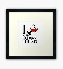 I Drink And I know Things - Tyrion Lannister Framed Print