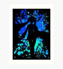 Vocaloid Inspired Paint Splatter Shirt Art Print
