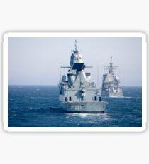 German frigate FFG Hessen and USS Normandy off the coast of Scotland. Sticker