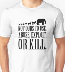 Animals Are Not Ours - white T-Shirt