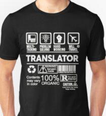 TRANSLATOR BEST DESIGN 2017 T-Shirt