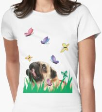 Dreams of a dog Womens Fitted T-Shirt