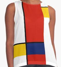 Mondrian Style Abstract Art Contrast Tank