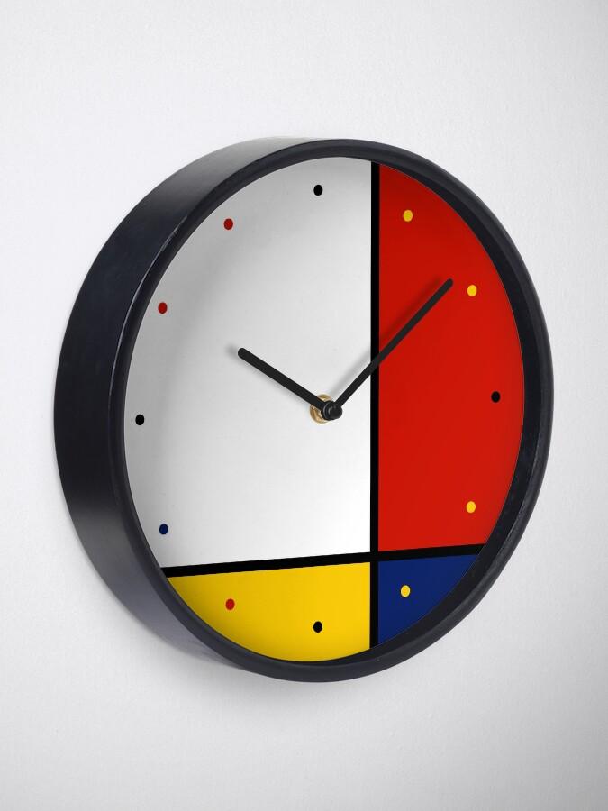 Vista alternativa de Reloj Mondrian Style Abstract Art