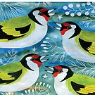 Goldfinches & Seedheads by Maria Burns