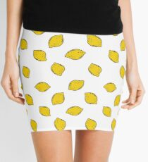 lemon seamless doodle pattern Mini Skirt