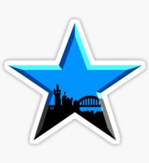 Geordie Star Sticker