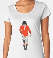 Gorgeous George Best Tribute Manchester United No.7 Women's Premium T-Shirt