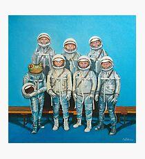 1959: Astronaut Frosches Weltraumrennen Fotodruck