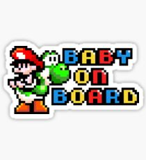 Baby Mario on Board Sticker