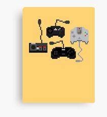 Pixel History - Sega Controllers Canvas Print
