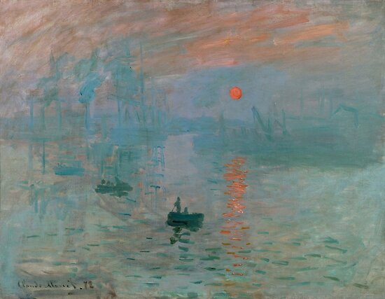 Monet - Impression, Sunrise, 1872 by fineearth