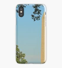 The Washington Monument With A Sliver Of The White House iPhone Case/Skin