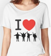 I Heart Beatles - Square Women's Relaxed Fit T-Shirt