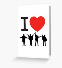 I Heart Beatles - Square Greeting Card