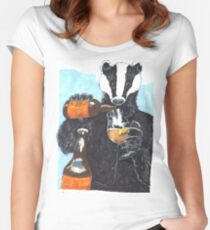 Craft Beer Badger Women's Fitted Scoop T-Shirt