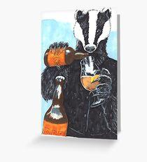Craft Beer Badger Greeting Card