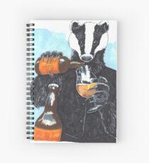 Craft Beer Badger Spiral Notebook