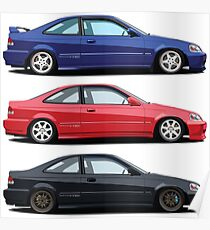 Civic Si and Friends Poster